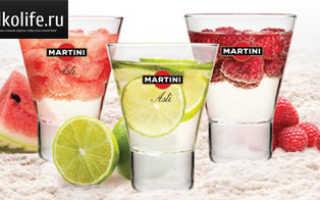 Коктейли с Мартини: рецепты алкоголя в домашних условиях
