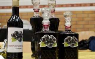 Наливка из черной смородины и красной, в том числе замороженной: быстрые рецепты на спирту